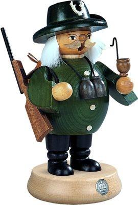 Räuchermann Förster, grün, mittelgroß