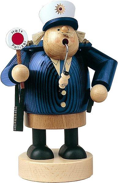 Räuchermann Polizist in blau -Die Dicken-