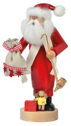 Räuchermann Weihnachtsmann mit Puppe -Die Schlanken