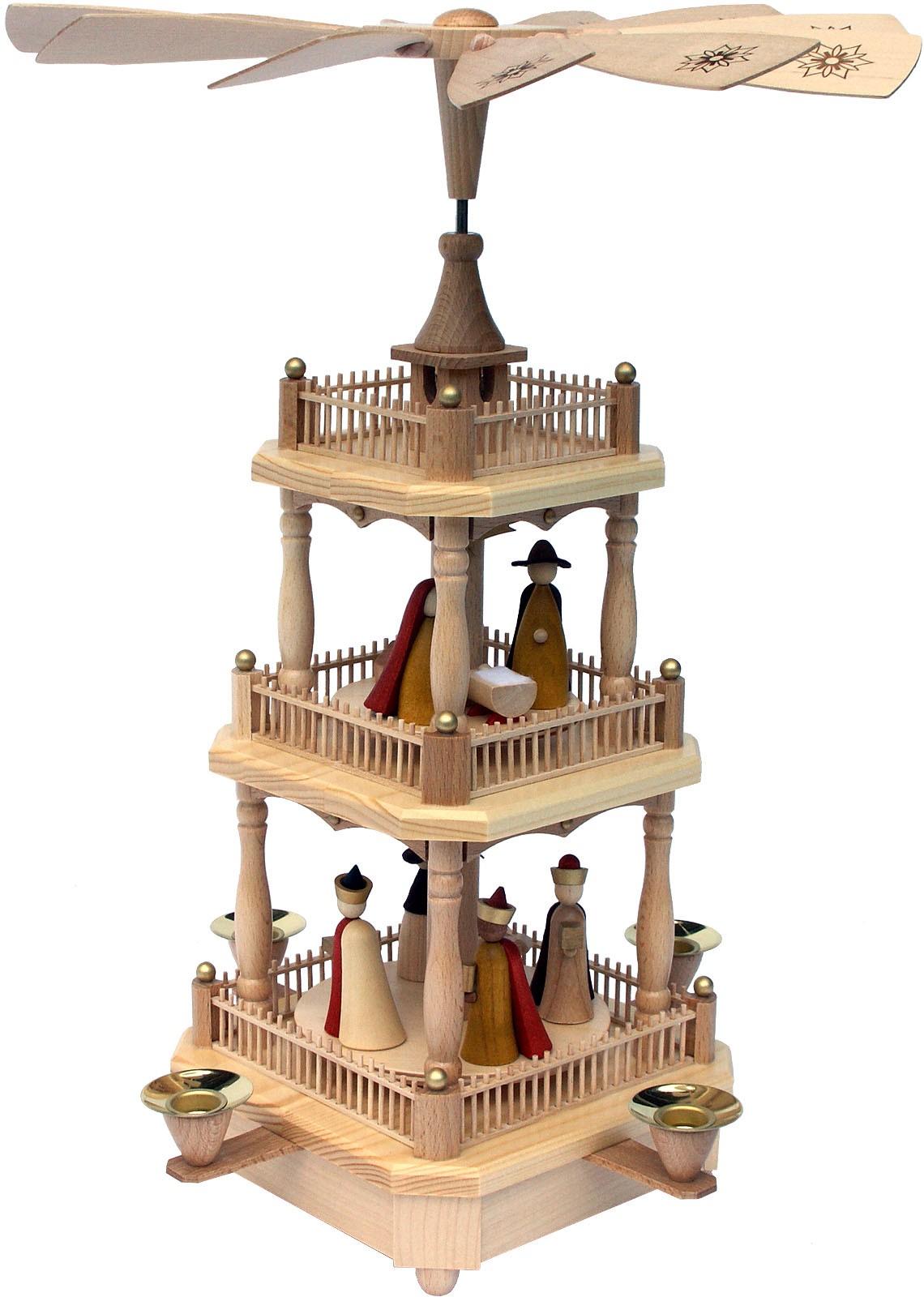 Pyramide Christi Geburt, 2-stöckig - neues Design