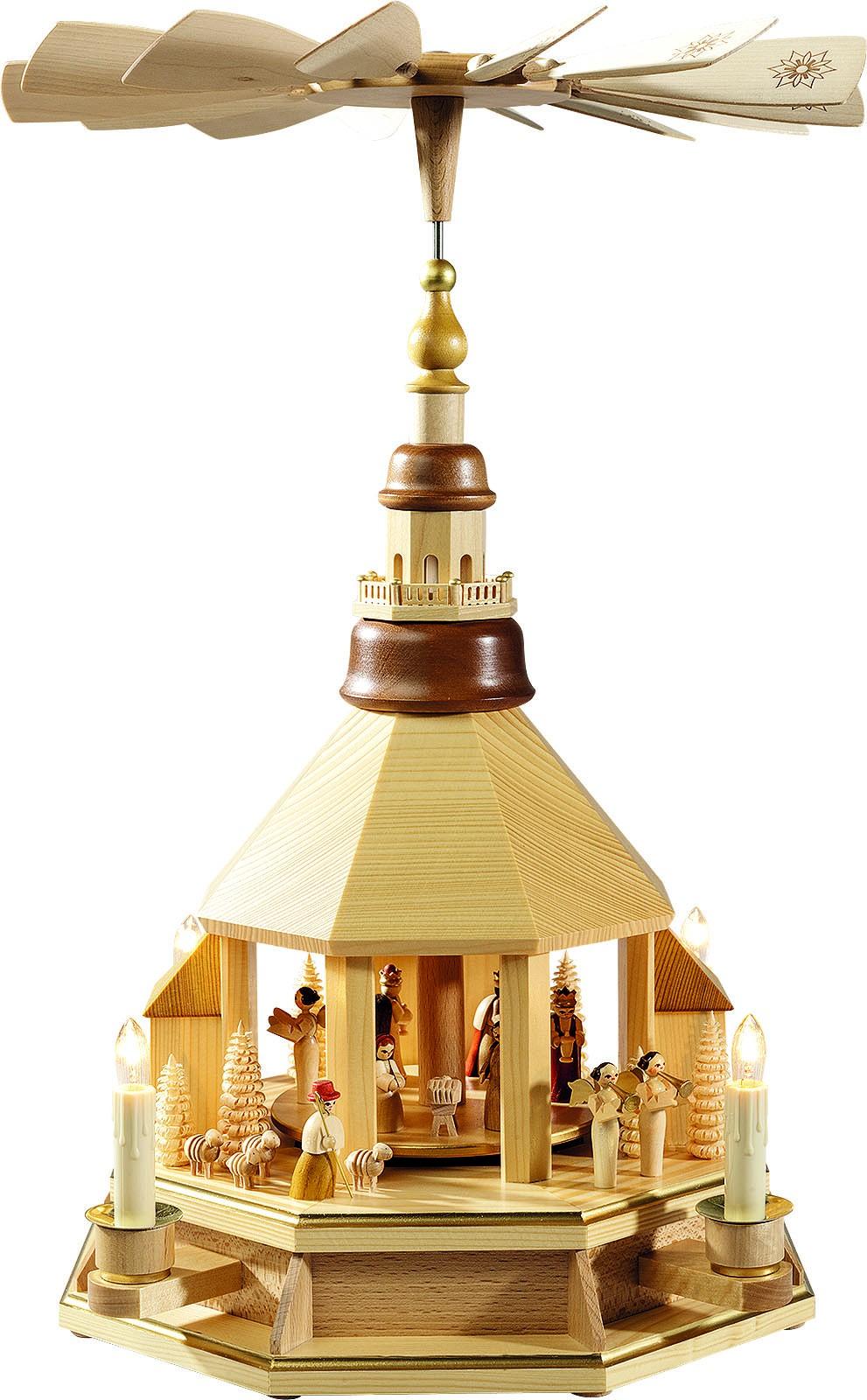 Pyramide Kirche hell, Christi Geburt, natur, el.