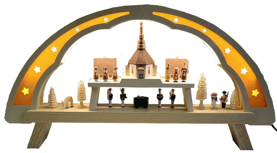 LED-Lichterbogen Seiffener Kirche