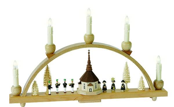schwibbogen seiffener kirche elektr beleuchtung. Black Bedroom Furniture Sets. Home Design Ideas