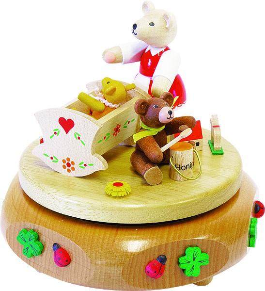 Spieldose Bärenwiege, 18-stimmiges Spielwerk Kleine Welt