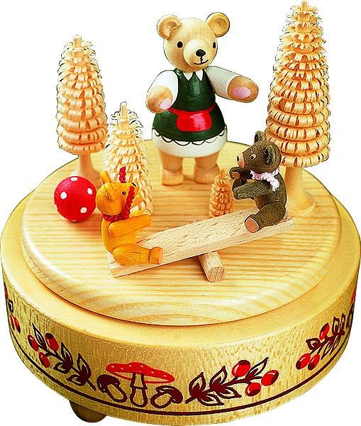 Spieldose Bärenwippe, 18er Spielwerk Kleine Welt