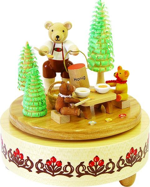 Spieldose Honigbärchen, 18er Spielwerk Kleine Welt