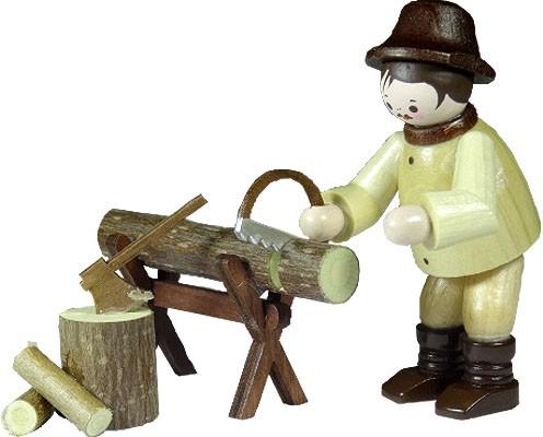 Waldarbeiter am Sägebock - natur