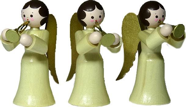 3 Engel mit Trompete, natur