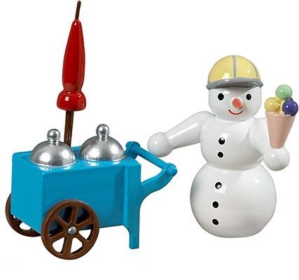 Schneemann - Eisverkäufer mit Wagen