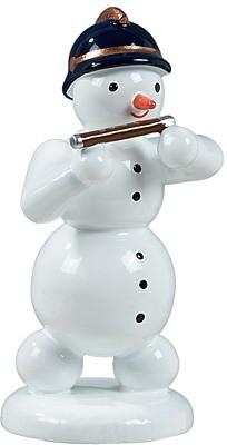 Schneemann mit Pikkoloflöte