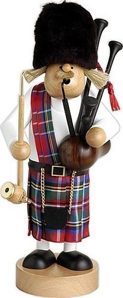 Räuchermann Schotte mit Dudelsack, sehr groß