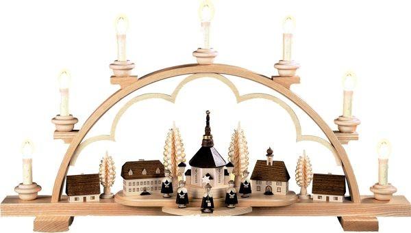 Schwibbogen Seiffener Dorf LED