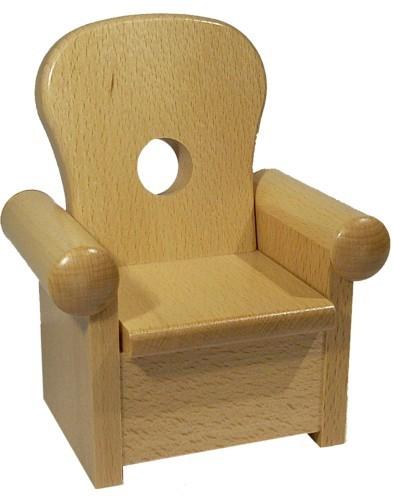 Sessel für Kantenhocker, natur