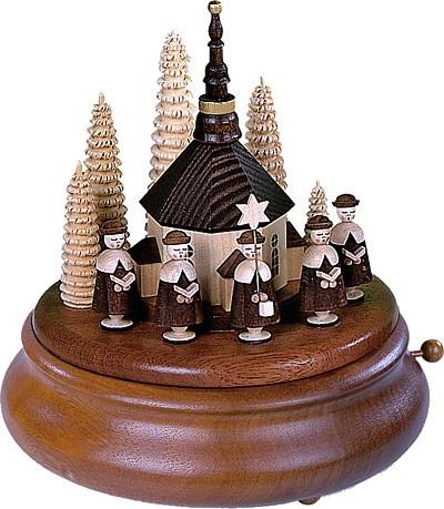 Spieldose Kurrende mit Kirche, natur
