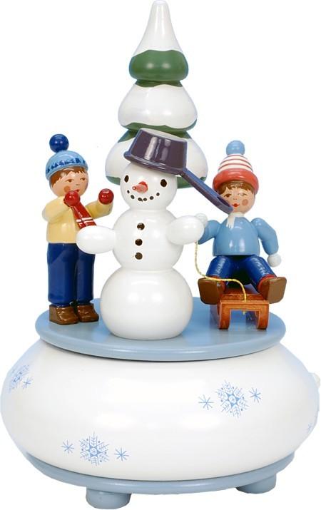 Spieldose Schneekinder