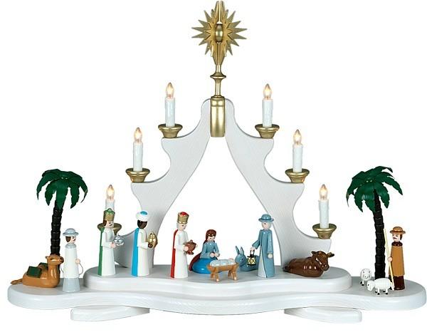 Spitzbogen Christi Geburt / farbig