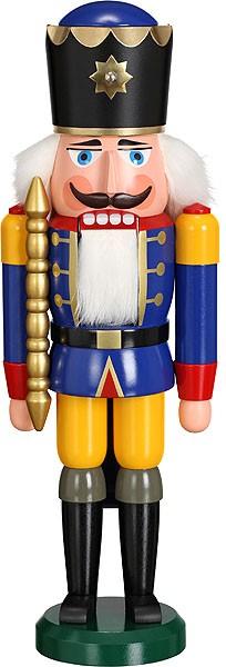 Nussknacker König blau 38 cm