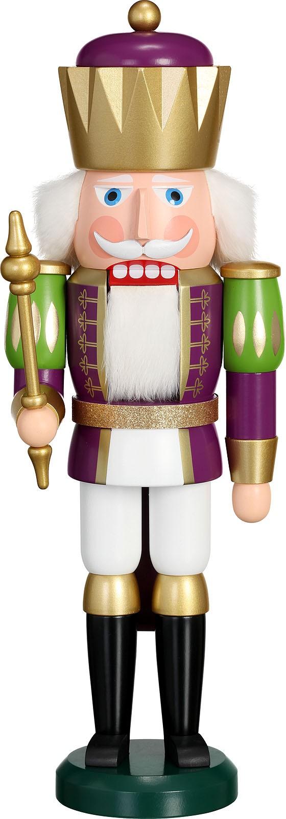 Nussknacker König, purpur-weiß