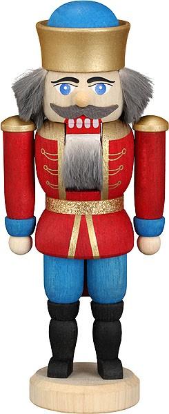 Mini-Nussknacker König rot