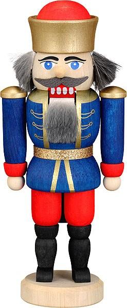 Mini-Nussknacker König blau
