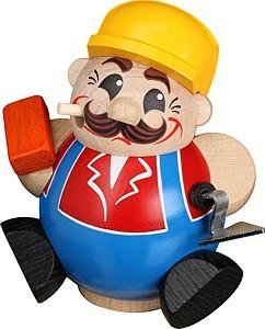 Kugelräucherfigur Bauarbeiter