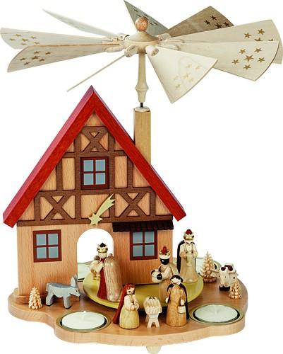 Tischpyramide Haus Geburt