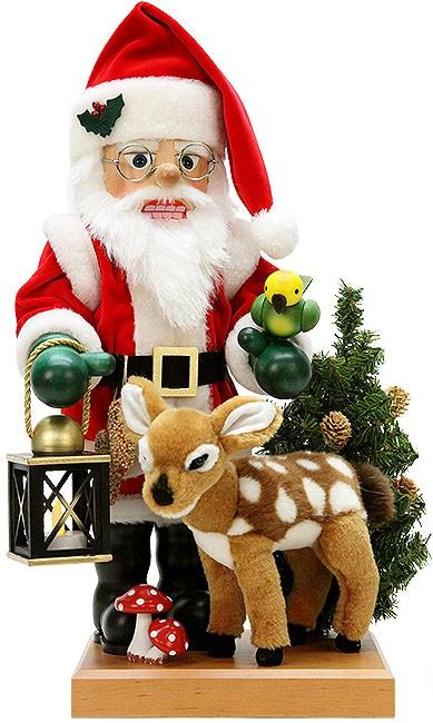 Nussknacker Weihnachtsmann mit Bambi