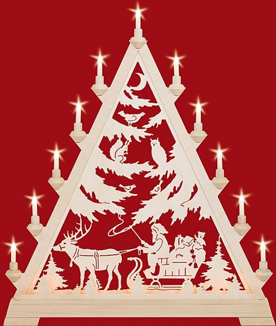 Große Spitze Nikolaus mit Schlitten