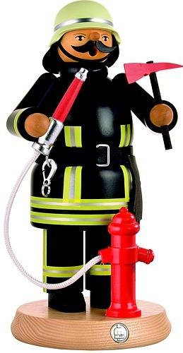 Räuchermann Feuerwehrmann mit Hydrant