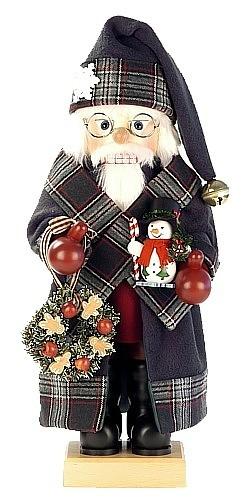 Nussknacker Weihnachtsmann Landhaus, grün