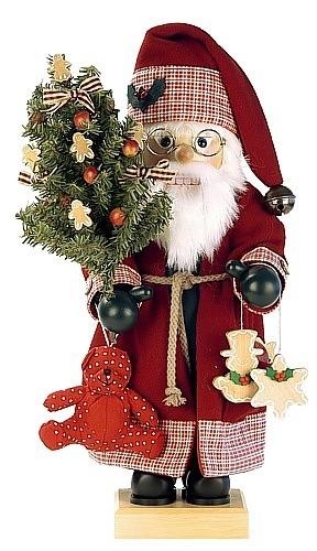 Nussknacker Weihnachtsmann Landhaus, rot