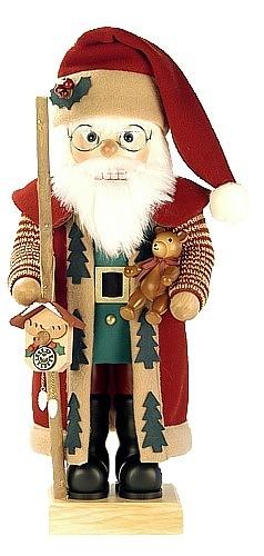 Nussknacker Weihnachtsmann, bordeaux