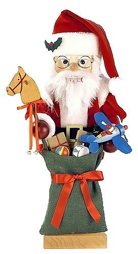Nussknacker Weihnachtsmann mit Spielzeug