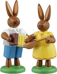 Osterhasen Musikantenpaar