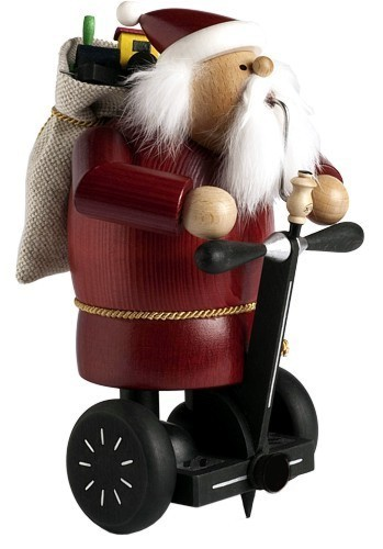 Räuchermännchen Weihnachtsmann auf Personal Transporter