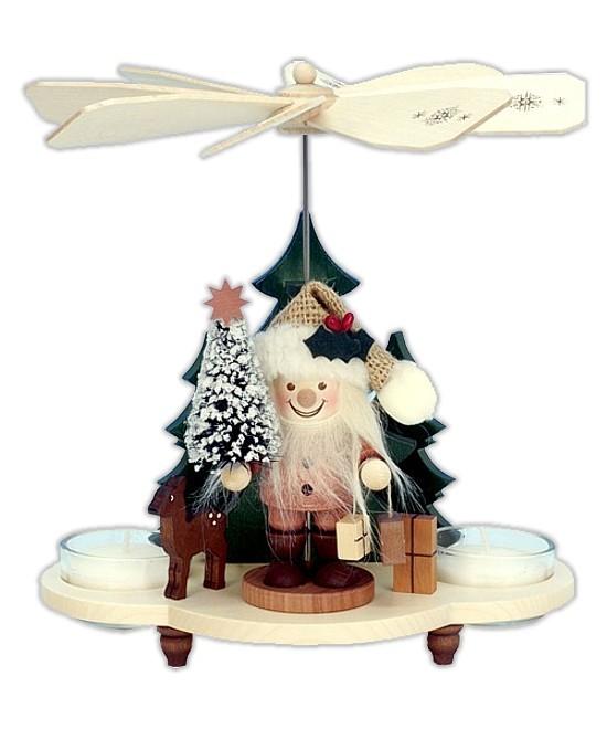 Teelichtpyramide Weihnachtsmann