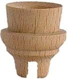 Lichtertülle -14mm,  Höhe 27 mm,  mit Nut