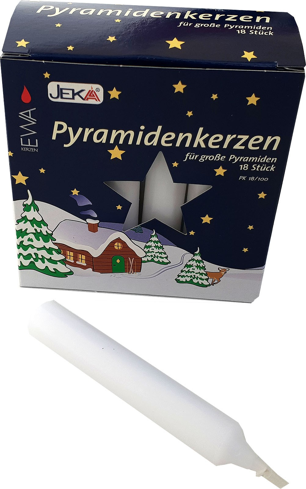 Pyramidenkerzen - 17 mm, weiß