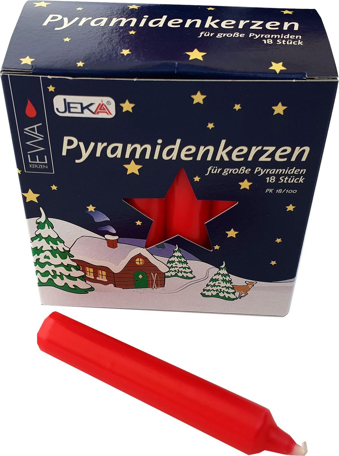 Pyramidenkerzen - 17 mm, rot
