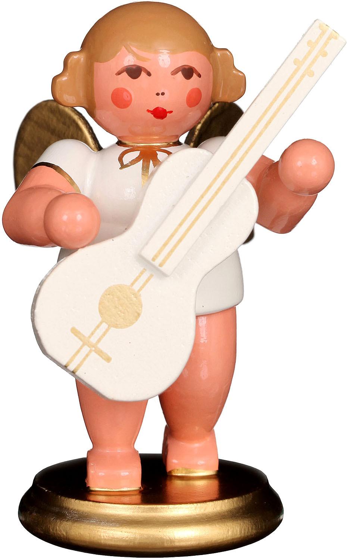 Engel mit Gitarre, weiß/gold
