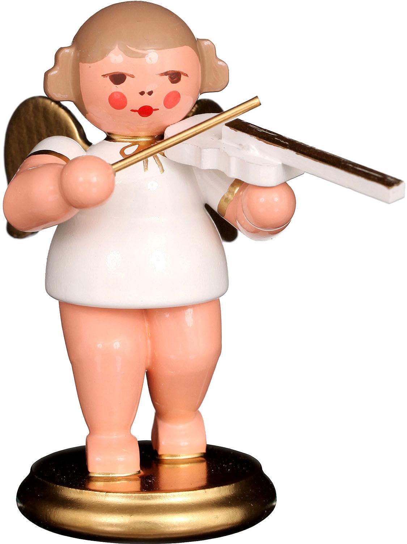 Engel mit Geige, weiß/gold