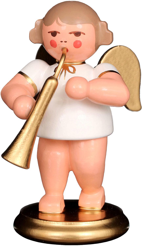Engel mit russischem Horn, weiß/gold