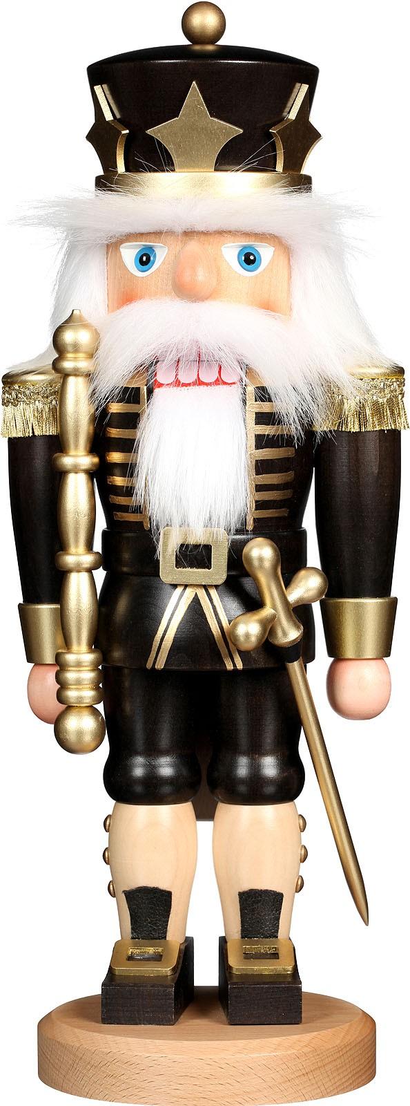 Nussknacker König schwarz