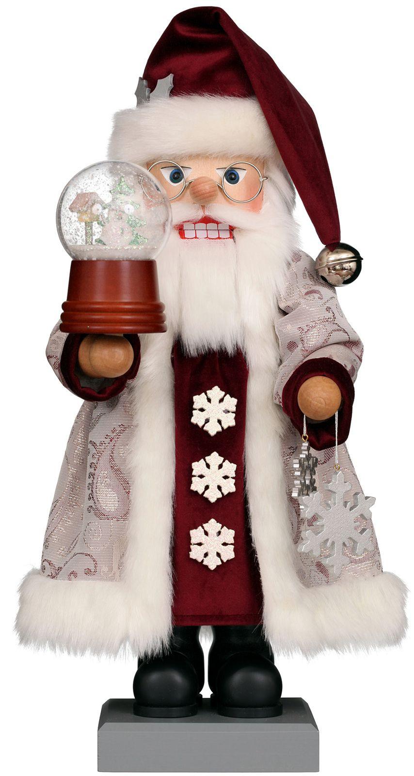 Nußknacker Weihnachtsmann Schneekugel