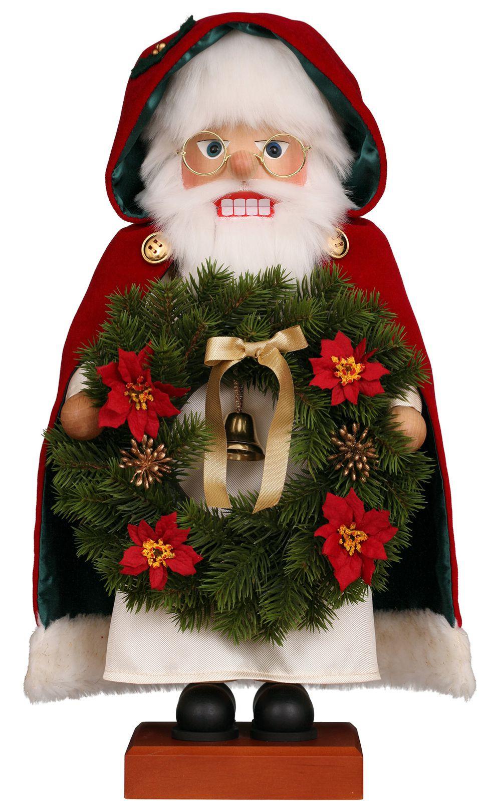 Nußknacker Weihnachtsmann Kranz