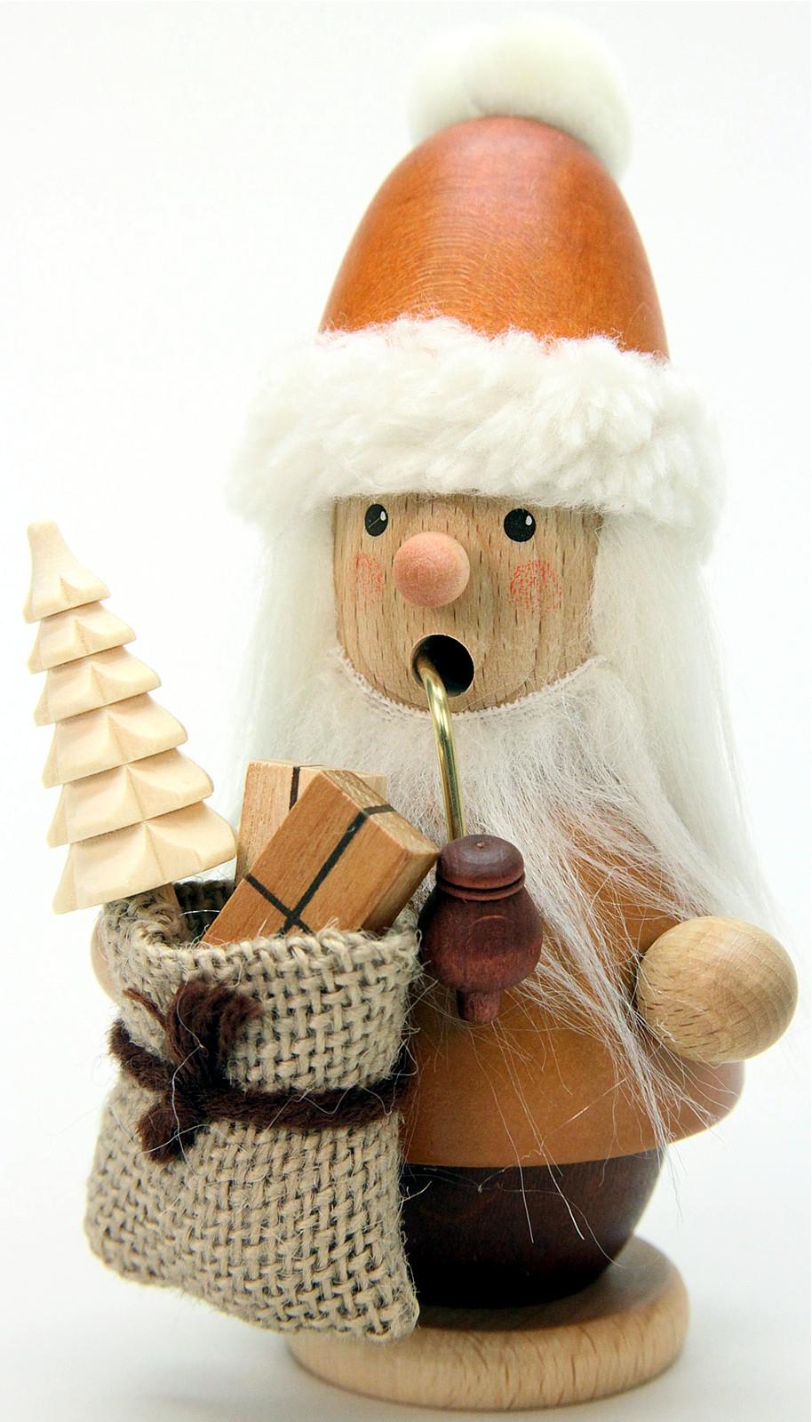 Räuchermann Weihnachtsmann natur