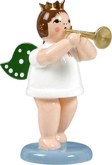Engel mit Trompete, mit Krone
