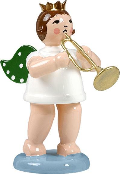 Engel mit Jazztrompete, mit Krone