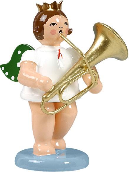 Engel mit Tuba, mit Krone