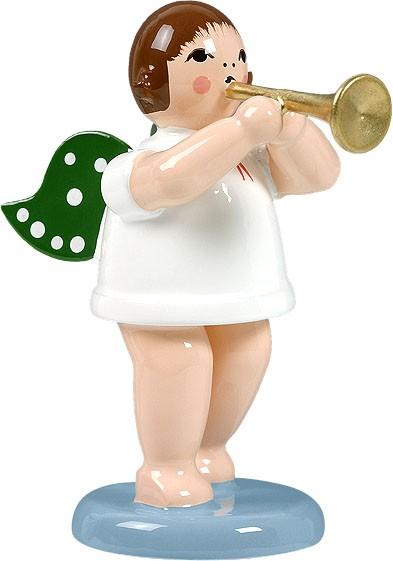 Engel mit Trompete, ohne Krone